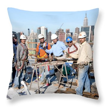 27th Street Lic 4 Throw Pillow by Steve Sahm
