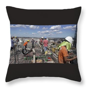 27th Street Lic 5 Throw Pillow by Steve Sahm