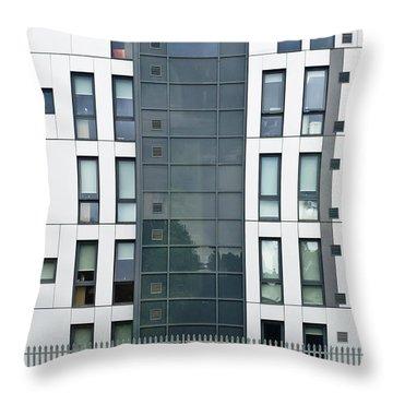 Modern Building Throw Pillow