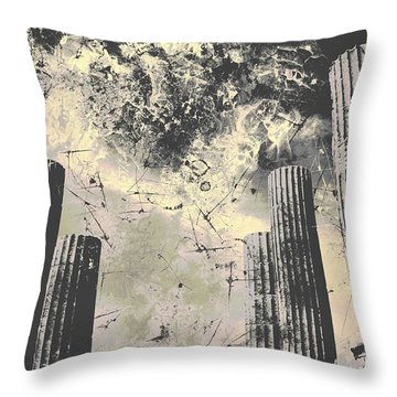 Akropolis Columns Throw Pillow