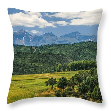 #2918 - Sneffles Range, Colorado Throw Pillow