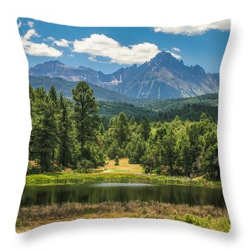 #2933 - Sneffles Range, Colorado Throw Pillow