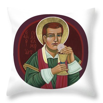 Throw Pillow featuring the painting 297 Holy Martyr Blessed William Hart -1583 by William Hart McNichols