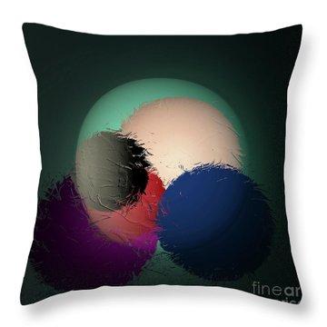 Throw Pillow featuring the digital art 2986-2017 by John Krakora
