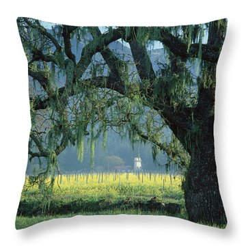2b6319 Mustard In The Oaks Sonoma Ca Throw Pillow