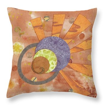 Throw Pillow featuring the mixed media 2life by Desiree Paquette