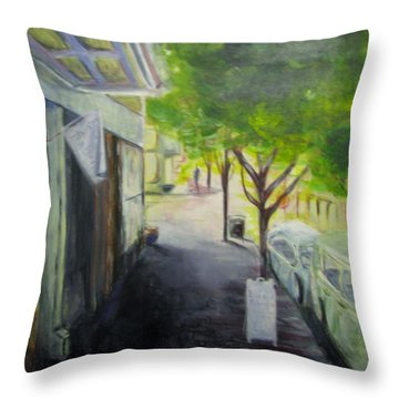 2nd St Stores Throw Pillow