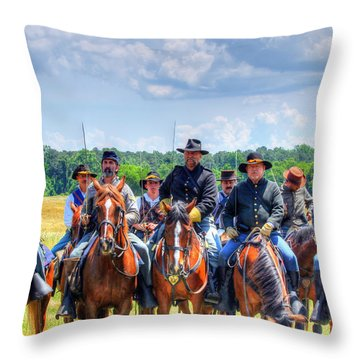 2nd Us Cavalry  Throw Pillow