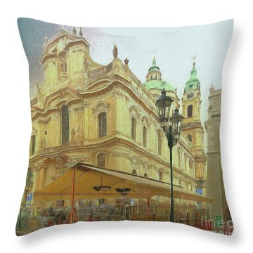 2nd Work Of St. Nicholas Church - Old Town Prague Throw Pillow