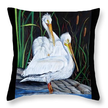 2's Company Throw Pillow