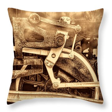 3 10 To Nowhere  Throw Pillow by American West Legend By Olivier Le Queinec