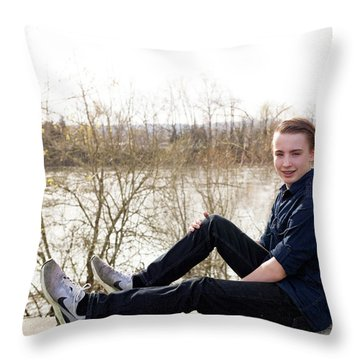 11 Throw Pillow by Rebecca Cozart