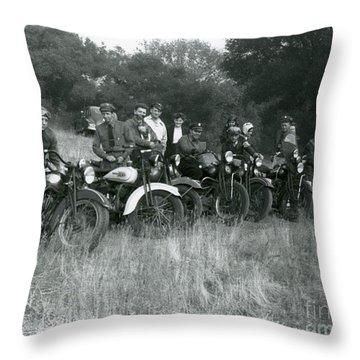 1941 Motorcycle Vintage Series Throw Pillow
