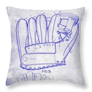 1943 Baseball Glove Patent Throw Pillow by Jon Neidert