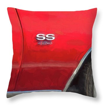 Throw Pillow featuring the photograph 1970 Chevy Chevelle 454 Ss  by Rich Franco