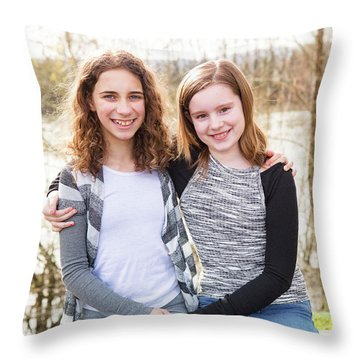 2 Throw Pillow by Rebecca Cozart
