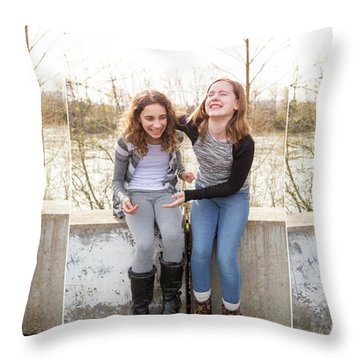 3 Throw Pillow by Rebecca Cozart