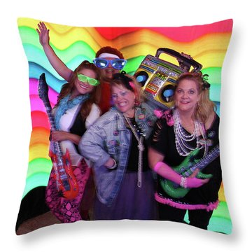 80's Dance Party At Sterling Event Center Throw Pillow