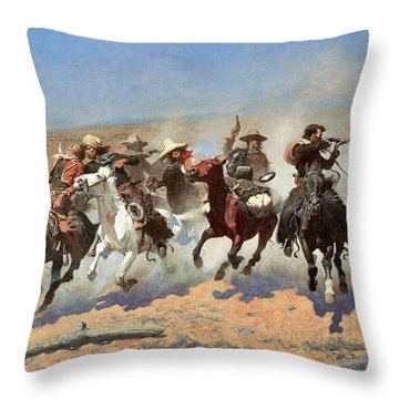 A Dash For The Timber Throw Pillow