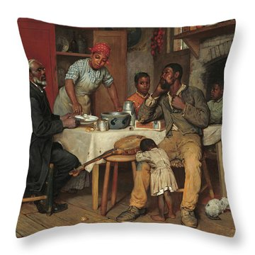 A Pastoral Visit Throw Pillow
