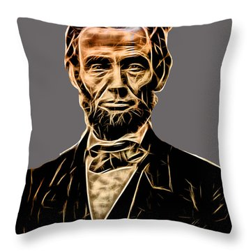 Abraham Lincoln Collection Throw Pillow by Marvin Blaine