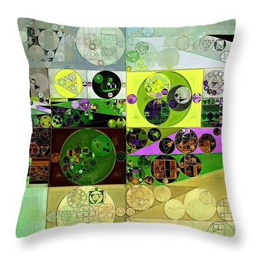 Abstract Painting - Black Bean Throw Pillow