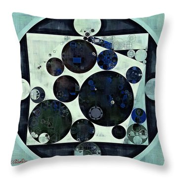 Abstract Painting - Dark Jungle Green Throw Pillow by Vitaliy Gladkiy