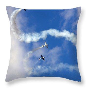 Aerostars Yak-50 Team Throw Pillow