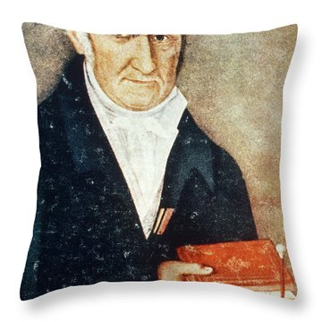 Alessandro Volta, Italian Physicist Throw Pillow by Science Source