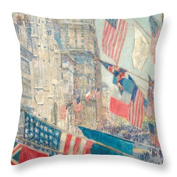 Allies Day, May 1917 Throw Pillow
