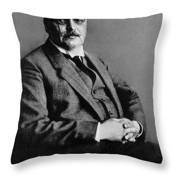 Alois Alzheimer, German Neuropathologist Throw Pillow