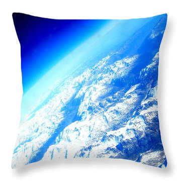 Alpine From Sky Throw Pillow