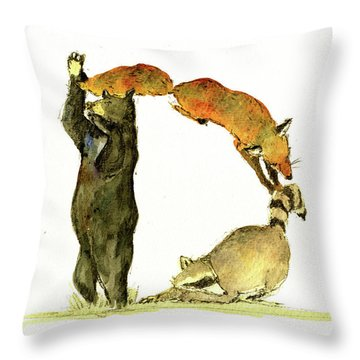 Animal Letter Throw Pillow