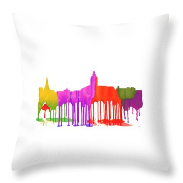 Annapolis Maryland Skyline      Throw Pillow
