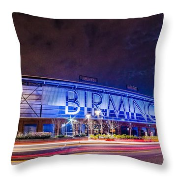 April 2015 - Birmingham Alabama Regions Field Minor League Baseb Throw Pillow