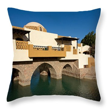 Modern Arabic Architecture In El Gouna Throw Pillow by Aivar Mikko