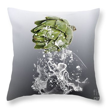 Artichoke Splash Throw Pillow