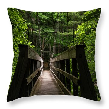 Throw Pillow featuring the photograph At Bridge by Kevin Blackburn