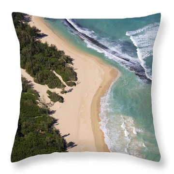 Baldwin Beach Throw Pillow by Ron Dahlquist - Printscapes