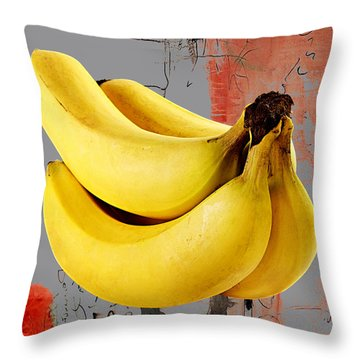 Banana Collection Throw Pillow by Marvin Blaine