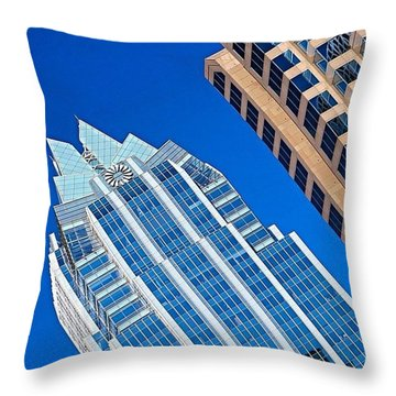 #beautiful #bluesky And The Frost Bank Throw Pillow