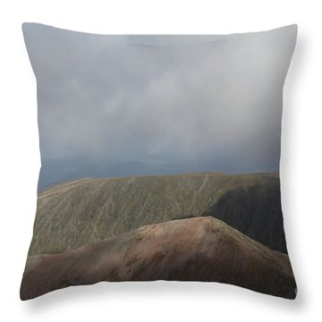 Ben Nevis Throw Pillow by David Grant