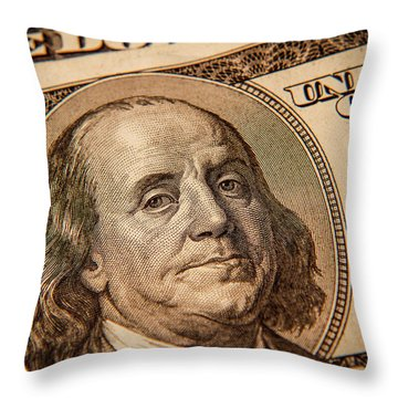 Throw Pillow featuring the photograph Benjamin Franklin by Les Cunliffe
