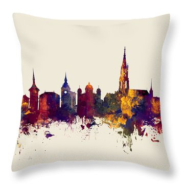 Bern Switzerland Skyline Throw Pillow