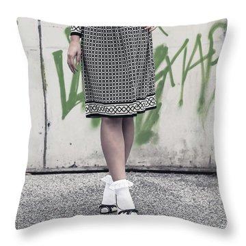 Black And White Throw Pillow by Joana Kruse