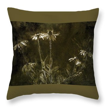 Throw Pillow featuring the photograph Black Eyed Susans by Jim Vance