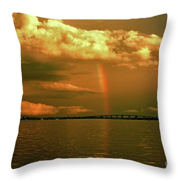 Throw Pillow featuring the photograph 3- Blue Heron Bridge by Rainbows