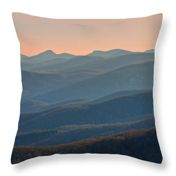 Throw Pillow featuring the photograph Blue Ridge Mountains Sunset  by Ray Devlin