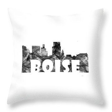 Boise Idaho Skyline Throw Pillow