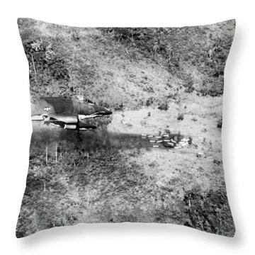 Bombing Vietnam Throw Pillow